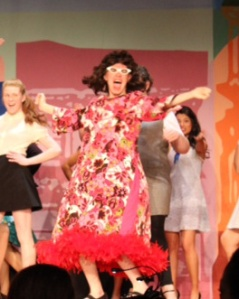 Max Tunney starring as Edna Turnblad in the high school's production of Hairspray.